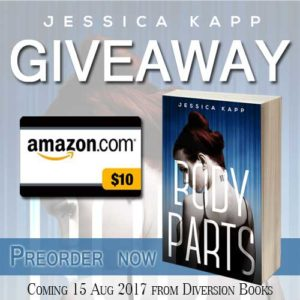 #Giveaway: Count Down To Release for BODY PARTS (YA)
